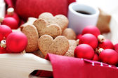 Gingerbread hearts — Foto Stock