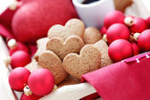 Gingerbread hearts — 图库照片