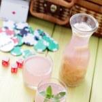 Rhubarb juice — Stock Photo #38911145