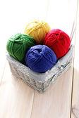 Balls of wool — Stock Photo
