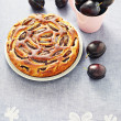 Plum pie — Stock Photo