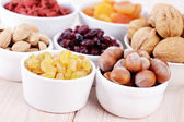 Dry fruits and nuts — Stock Photo