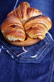 Homemade croissant — Stock Photo