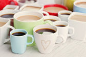 Bir sürü kahve bardağı — Stok fotoğraf