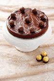 Pokój dwuosobowy sernik czekoladowy — Zdjęcie stockowe