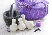 Herbal compress balls — Stock Photo