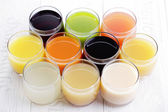 Various fruity juice — Stockfoto