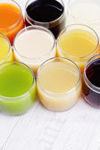 Various fruity juice — Stock Photo
