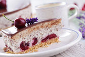 Stracciatella cheese cake — Stock Photo