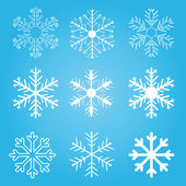 Set of vector snow flakes — Stock Vector