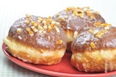 Closeup of polish donuts. — Stock Photo