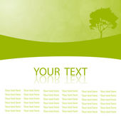 Green vector natural background with space for your text — Stock Vector