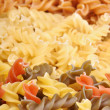 Three types of fusilli pasta — Stock Photo