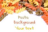 Three colored pasta — Stock Photo