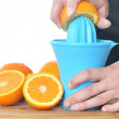 Preparing orange juice — Stock Photo