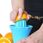 Preparing orange juice — Stock Photo #26304965