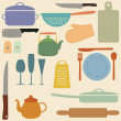 kitchen tools — Stock Vector
