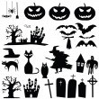 Vector halloween silhouettes — Stock Vector #30869771