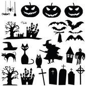 Vector halloween silhouettes — Stock Vector
