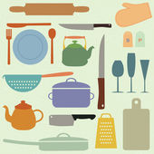 キッチン ツール — ストックベクタ