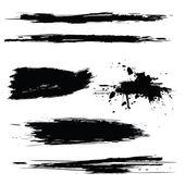 Vector set of grunge brush strokes — Stock Vector