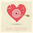 Vintage vector valentine's background — Stock Vector