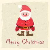 Vektorové vánoční přání s santa claus — Stock vektor