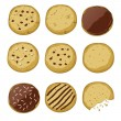 Set of different cookies — Stock Vector #34379591