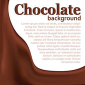 Chocolate background with copy space — Stock vektor