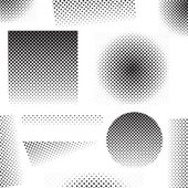 Set of different abstract halftone art elements — Vetorial Stock
