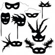 Collection of silhouettes carnival masks — Stock Vector #36068555