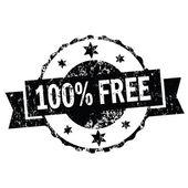 100 percent free stomp — Stock Vector