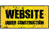 """website under construction"" sign — Stock Vector"