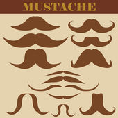 Set of mustaches — Stock Vector