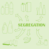 Concept of trash segregation — Stok Vektör