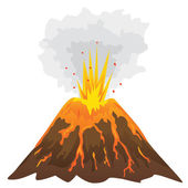 Volcano isolated on white background (vector) — Stock Vector
