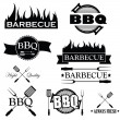 Set of bbq icons isolated on white background, vector — Stock Vector