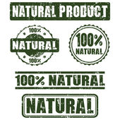 Collection of 100 percent  natural stamps, vector — Stock Vector