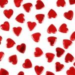 Red hearts confetti isolated — Stock Photo #4653074