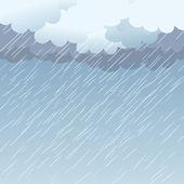 Rain as a background, vector — Stock Vector
