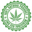 Постер, плакат: Grunge stamp with marijuana leaf emblem Cannabis leaf silhouett