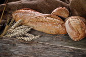 Close-up of traditional homemade bread — Stock Photo