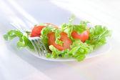 Salada com tomate fresco — Foto Stock
