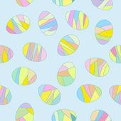 Seamless Easter eggs pattern — Stock Vector