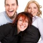 Happy three friends — Stock Photo