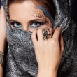 Mysterious muslim woman — Stock Photo