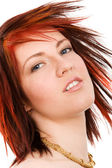 Redhead woman — Stock Photo