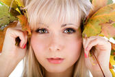 Close-up of young woman face — Stock Photo
