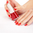 Stock Photo: Red nails