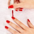 Red nails — Stock Photo